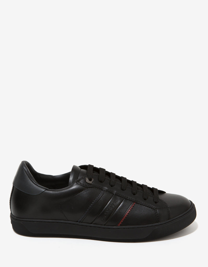 New Gourette Black Leather Trainers