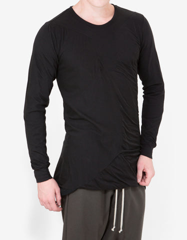 Rick Owens Black Long Sleeve Bonded T-Shirt