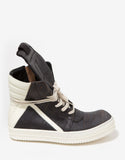 Geobasket Laser-Cut Leather High Top Trainers