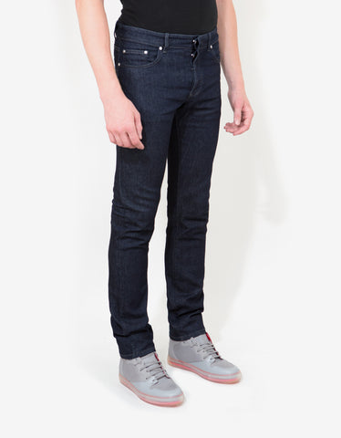 Balenciaga Blue Slim Denim Jeans