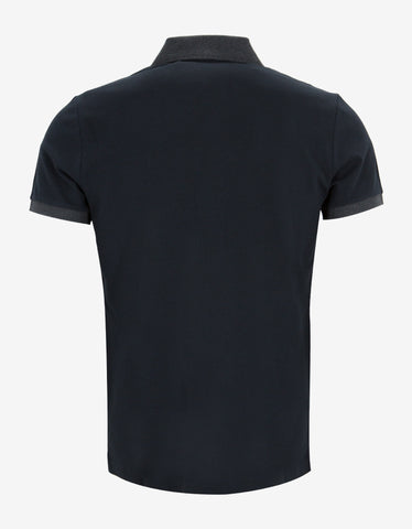 Moncler Dark Blue Contrast Trim Polo T-Shirt