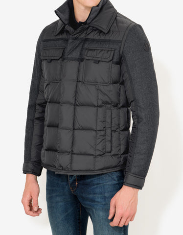 Moncler Blais Grey Down Jacket
