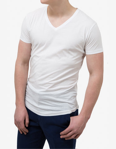 Orlebar Brown White Bobby V-Neck T-Shirt