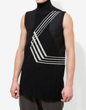 Black Geopatch Sleeveless T-Shirt