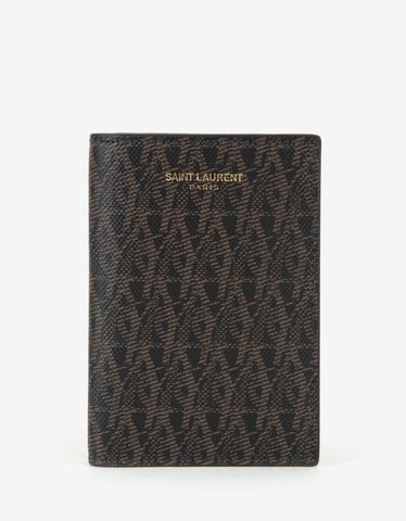 Saint Laurent Monogram Print Card Wallet
