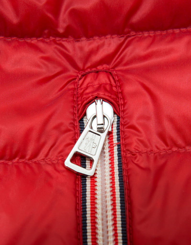 Red Naples Lightweight Hooded Down Gilet