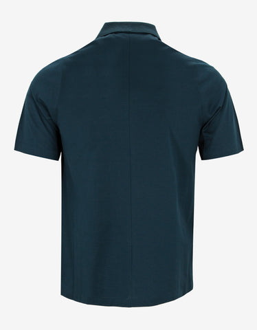 Balenciaga Teal Green Polo T-Shirt
