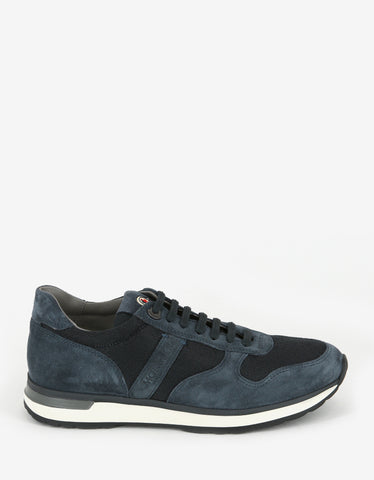 Moncler New Montego Suede & Nylon Trainers