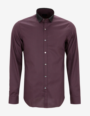 Lanvin Check Shirt with Grosgrain Collar