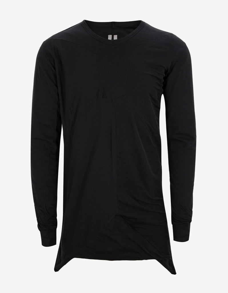 Black Long Sleeve Bonded T-Shirt