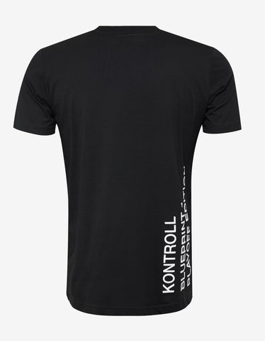 Kappa Kontroll Black Play-Off Print T-Shirt