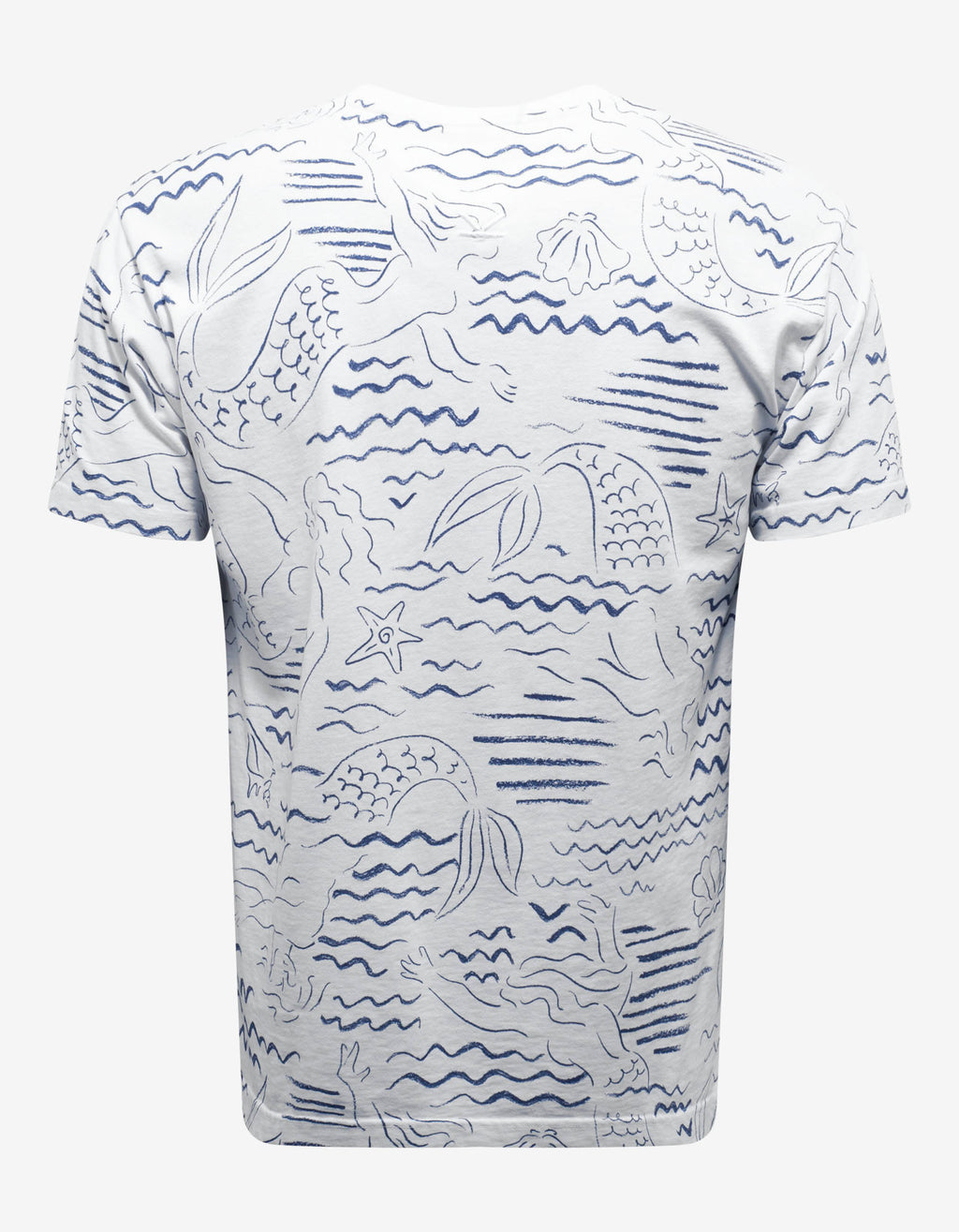 White 'Mermaids' Graphic Print T-Shirt