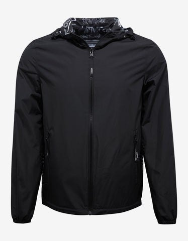 Kenzo Black Reversible Flyers Print Windbreaker
