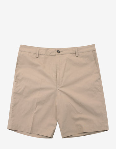 Brown Mesh Pocket Shorts