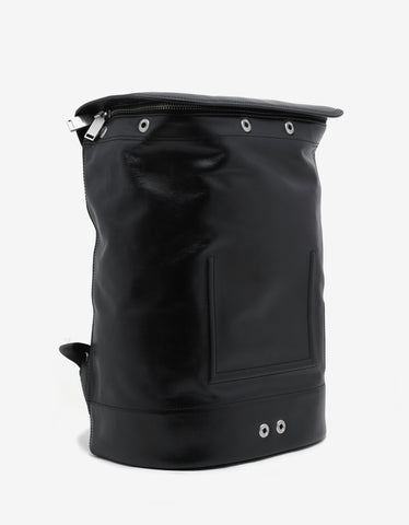 Kenzo Black Leather Backpack
