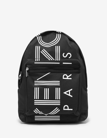 Kenzo Black Logo Large Backpack