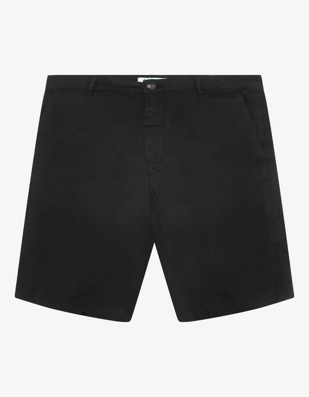 Black Logo Chino Shorts -