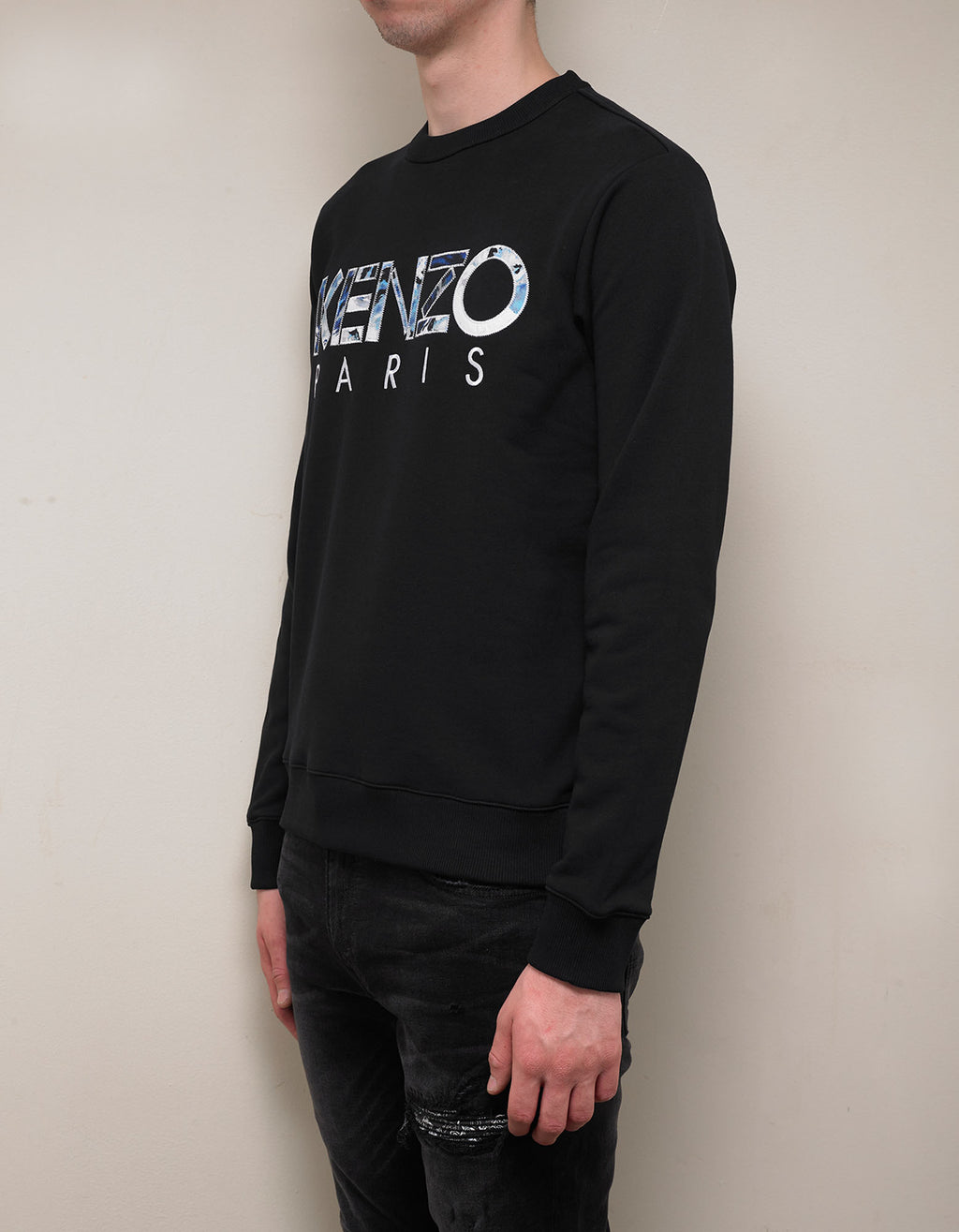 Black Logo Embroidery Sweatshirt