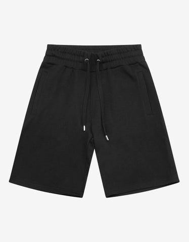 Black Crossed Logo Sweat Shorts