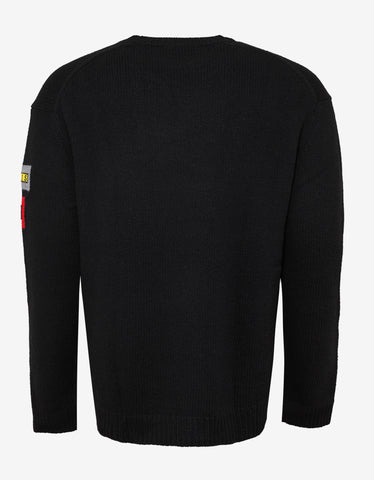 Kenzo Black Multi Icons Badges Sweater