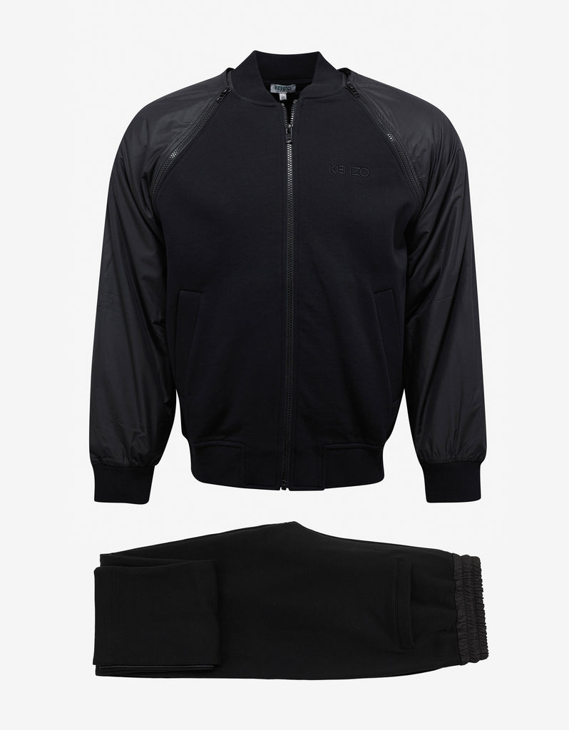 Black Tracksuit with Removable Sleeves