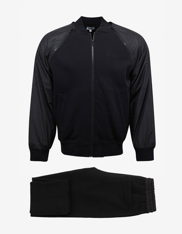 Kenzo Black Tracksuit with Removable Sleeves