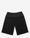 Black Nylon Panel Logo Sweat Shorts