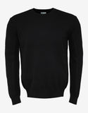 Black Ribbed Logo Sweater