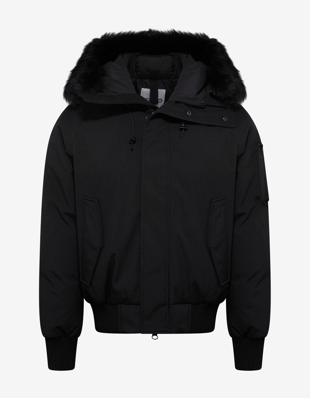 Black Short Down Parka Jacket