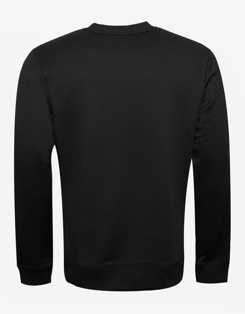 Black Signature Print Sweatshirt