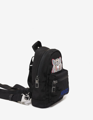Kenzo Black Contrast Tiger Canvas Mini Backpack