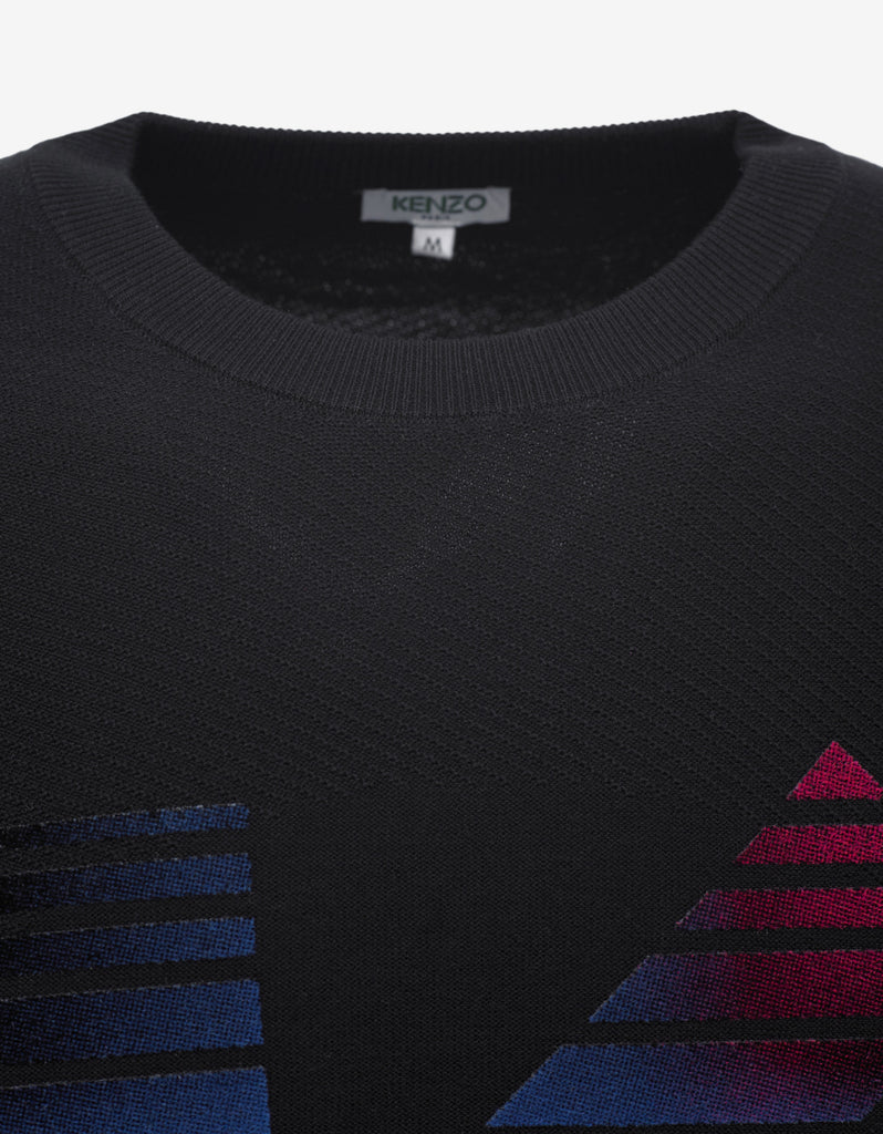 Black Sweater with Multicolour 'K' Logo