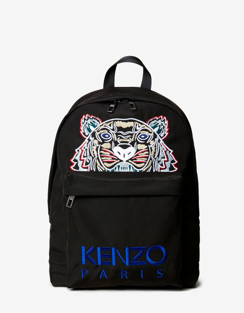 Black Contrast Tiger Canvas Large Backpack