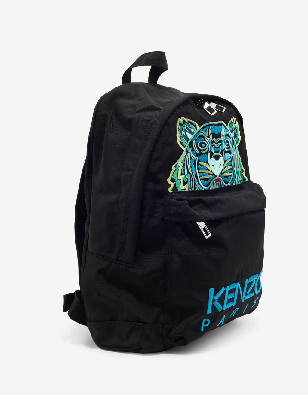 Black Tiger Embroidery Backpack