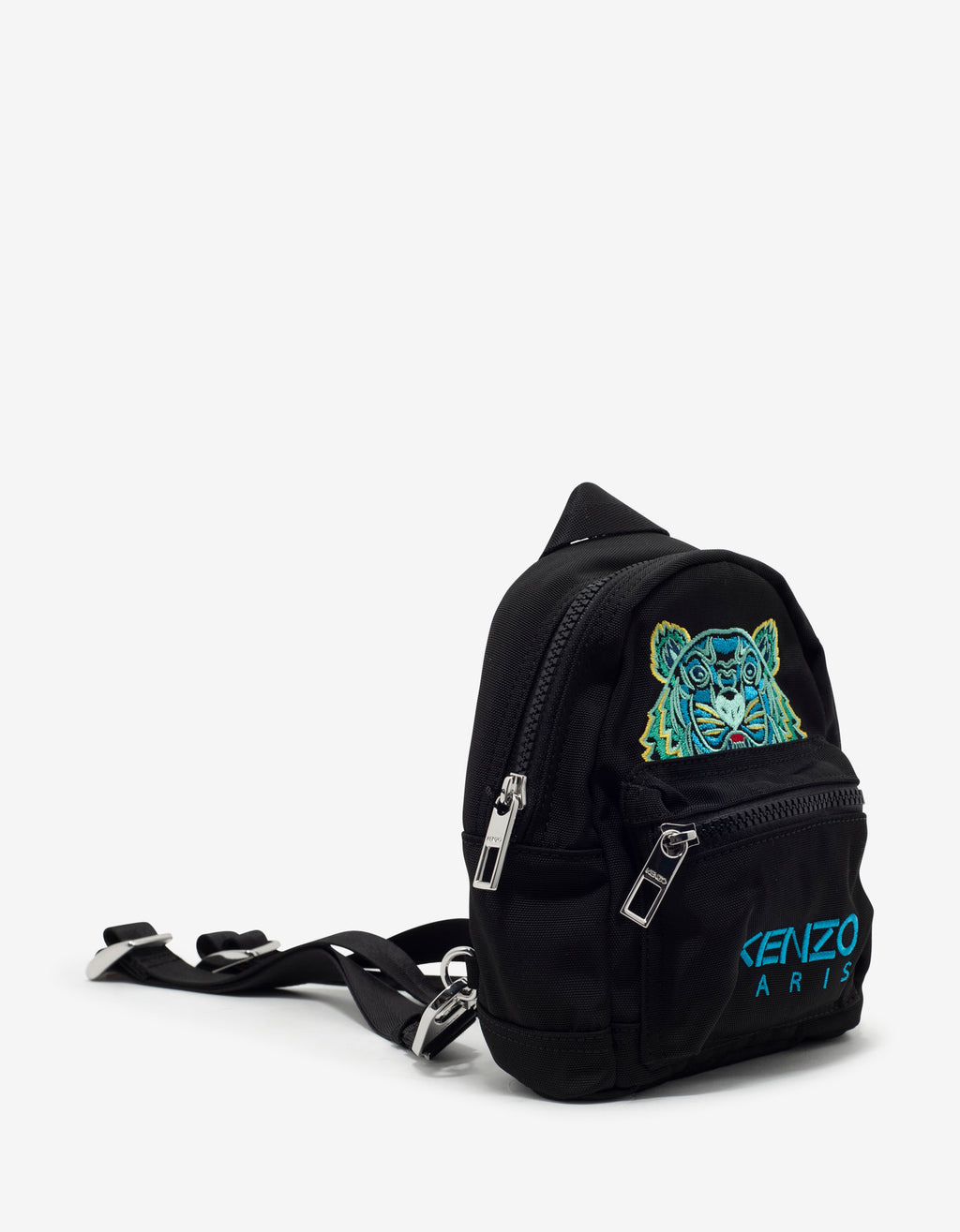Black Tiger Embroidery Mini Backpack