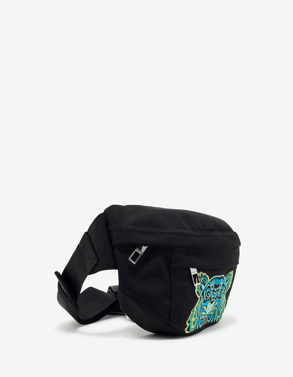 Black Tiger Embroidery Waist Bag