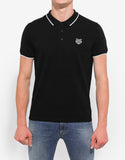 Black Tiger Head Polo T-Shirt