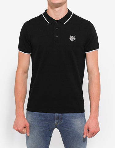 Kenzo Black Tiger Head Polo T-Shirt