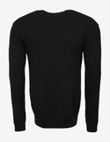 Black Tonal Tiger Embroidery Sweater
