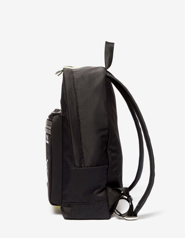 Kenzo Black Fluorescent Logo Backpack