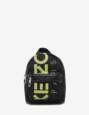 Kenzo Black Fluorescent Logo Mini Backpack