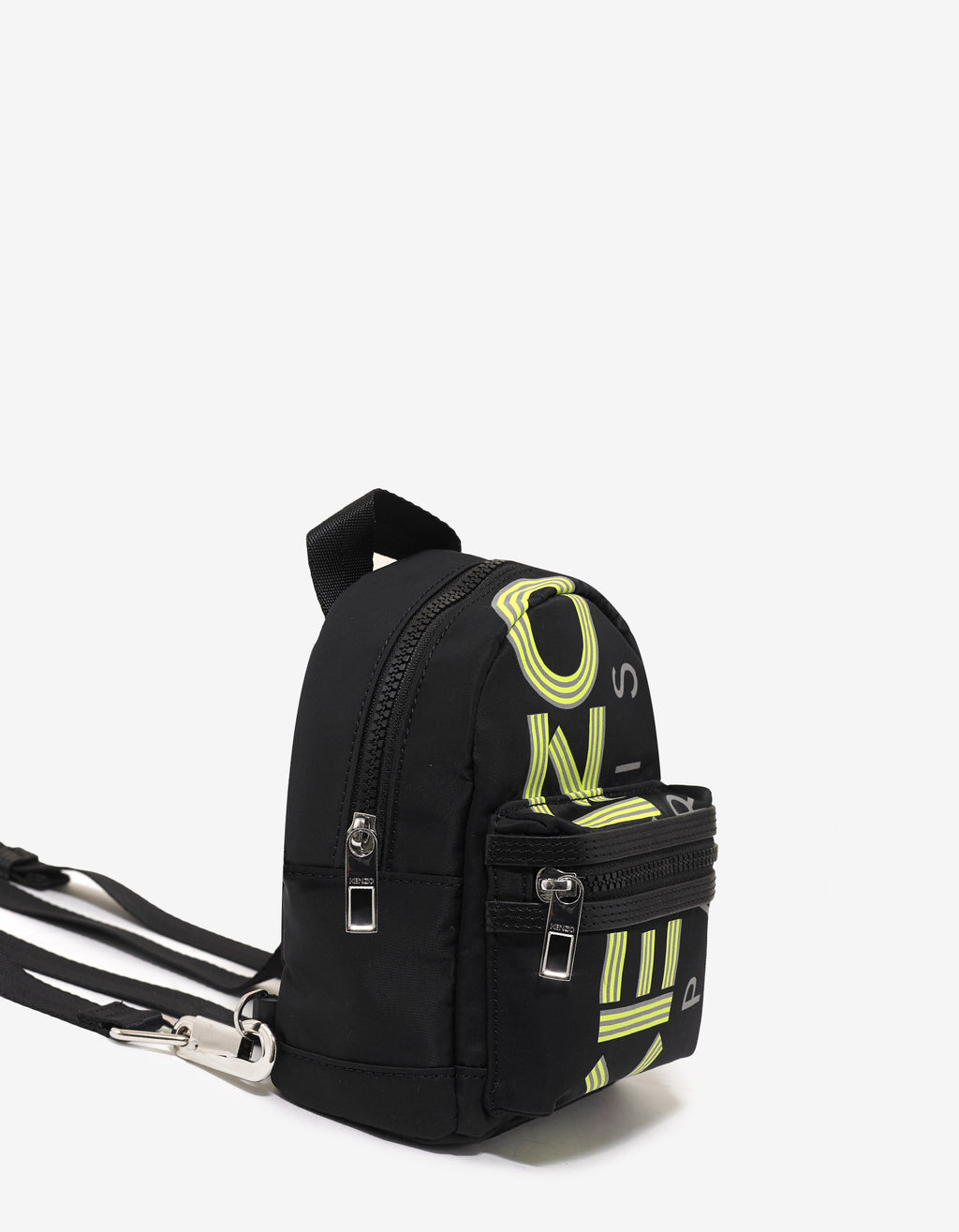 Black Fluorescent Logo Mini Backpack