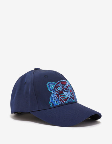 Kenzo Blue Contrast Tiger Embroidery Cap