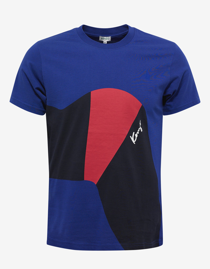 Blue 'Lisa' Print T-Shirt