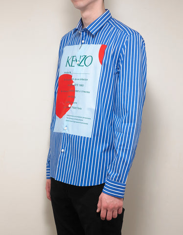 Kenzo Blue Striped Wedding Invitation Shirt