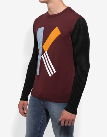 Kenzo Bordeaux 'K' Logo Wool Sweater