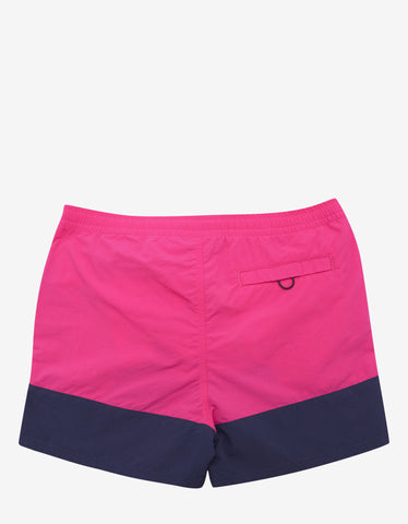 Kenzo Bottle Green & Pink Swim Shorts