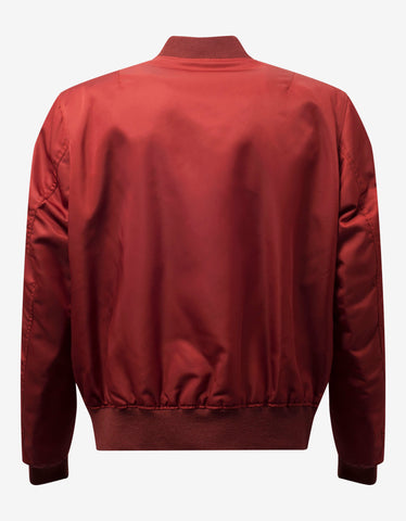 Burgundy Jumper Tiger Bomber Jacket