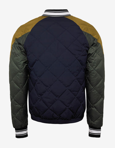 Kenzo Colour Block Down Quilted Varsity Jacket