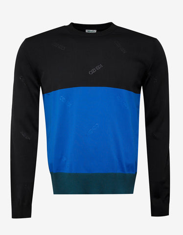 Kenzo Colour Block Logo Sweater